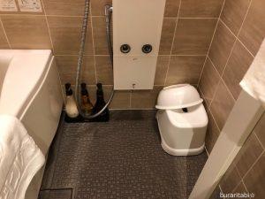 洗い場のあるバスルーム