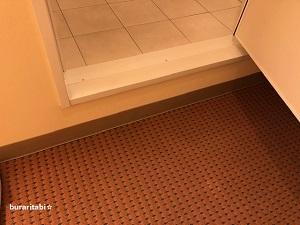 バスルームとの段差