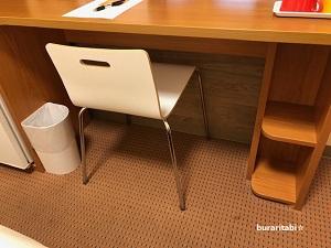デスク下のスペースと椅子