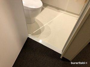 バスルームの入口の段差