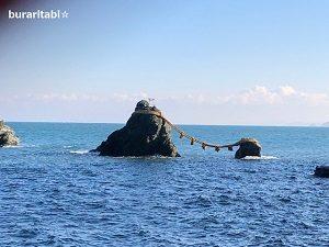 夫婦岩の風景