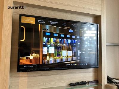 壁掛のテレビ